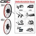 Набор для преобразования электрического велосипеда 36V 250W 350W 500W 48V 1000W 1500W 20-29inch 700C EBike Бесщеточный мотор-концентратор заднего колеса велосипе...