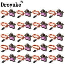 Droyuke 4/5/10/20 pçs/lote mg90s engrenagem digital 9g servo sg90 para rc helicóptero avião barco carro mg90 9g trex 450 rc robô helicóptero