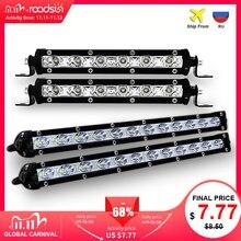 Roadsun 7 13 тонкий светодиодный Однорядный светильник 18 Вт 36 Вт 12 в дневные ходовые огни для внедорожника 4x4 внедорожсветильник светодиодный рабочий светильник