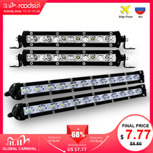 roadsun 7 13 inch Slim LED Light Bar Single Row 18W 36W 12V Daytime Running Light For SUV 4X4 Off Road LED Work Light Lamp