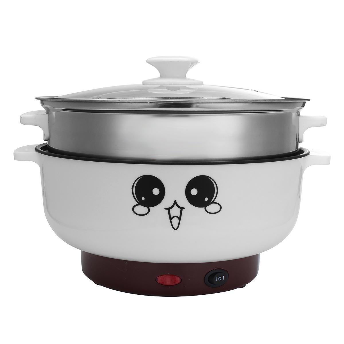 26cm 3.6L Electric Cooker Mini Hot Pot Boiler Multifunction Steamer Pot Dormitory Skillet Cookware Kitchen Cooking Appliance