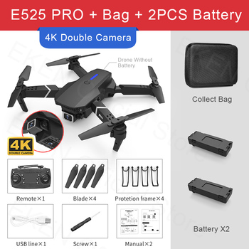 E525 PRO RC Quadcopter Profissional Obstacle Avoidance Drone Dual Camera 1080P 4K Fixed Height Mini Dron Helicopter Toy 14