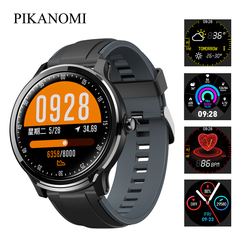 SN80 Full Touch Smart Uhr Bluetooth Wasserdicht Sport Armbanduhr Herz Rate Blutdruck Monitor Fitness <font><b>Tracker</b></font> <font><b>GPS</b></font> Uhr image