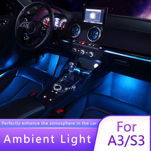 Air conditioning light for audi a3  turbine air outlet led environmental lights inlet air vent trim lights automobile decoration environmental air dosimetry