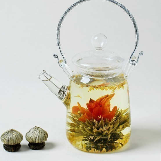 16 Pieces 16 Kinds Chinese Blooming Flower Tea Green Tea Ball Artistic Blossom Flowers Tea China Blooming Tea Green Organic 5