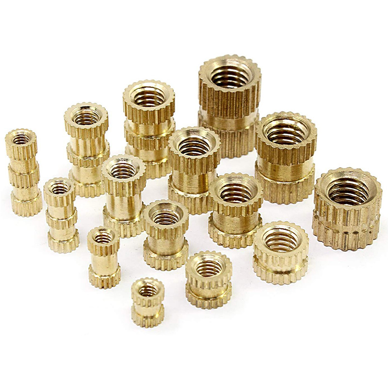 M2 M3 M4 M5 Female Thread Knurled Brass Threaded Insert Embedment Nut For 3D Printing Threaded Heat Set Inserts