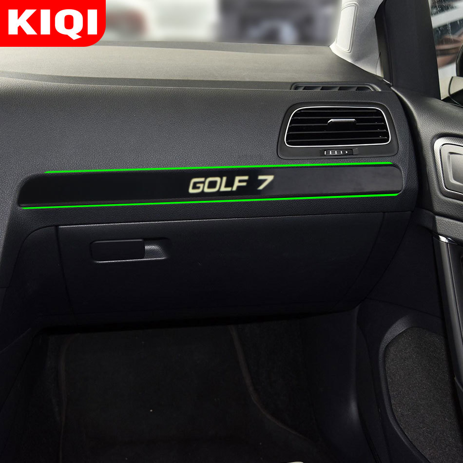 Car Glove Box Decoration Cover Trim Stickers Fit For Volkswagen VW Golf 7 Mk7 Golf7 LHD 2012 - 2018 Accessories