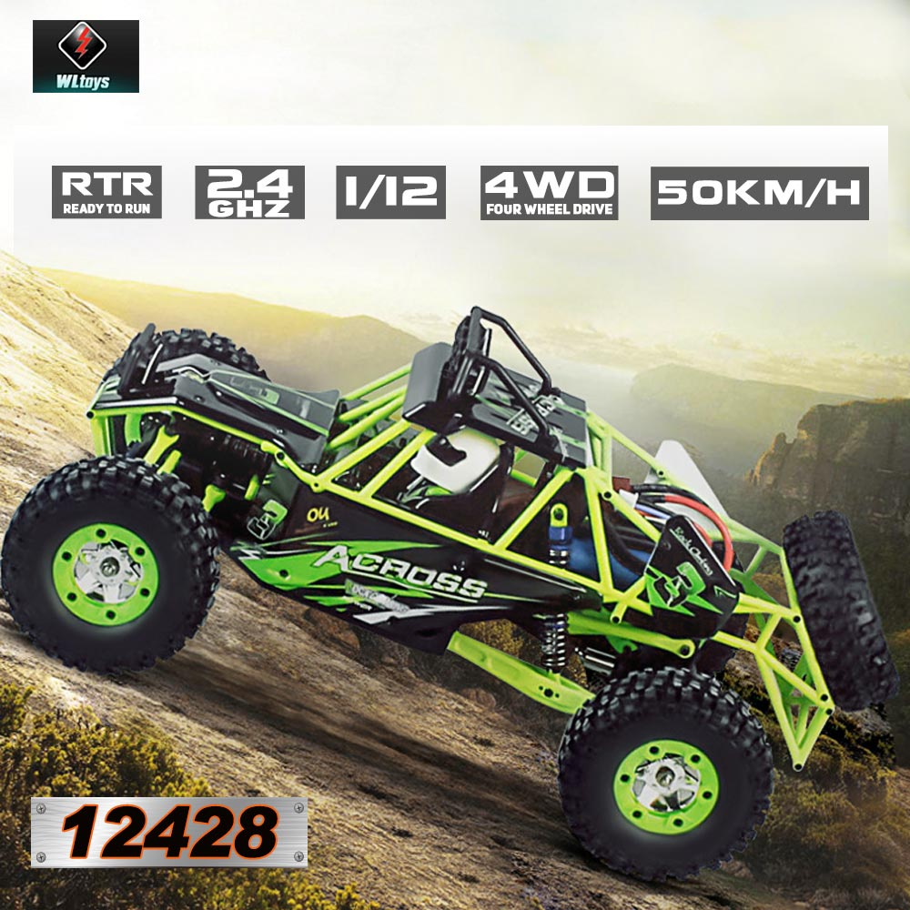 Wltoys 12428 1/12 RC Car 2.4G 4WD Electric Brushed Racing Crawler RTR 50km/h High Speed RC Off-road Car Remote Control Car Toys