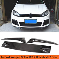 For VW Golf 6 R20 R Hatchback 2 Door Carbon Fiber Front Bumper Lip For Volkswagen VW Golf 6 VI MK6 R20 2012 2014
