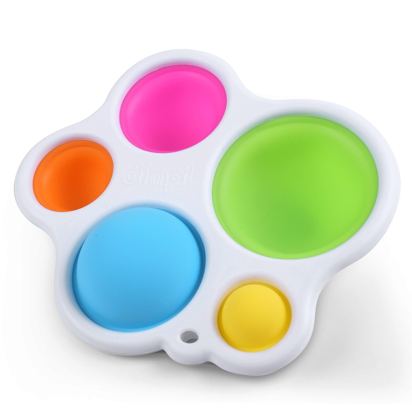 Adult Toys Fidget Rainbow Bubble-Sensory Pop-It Push-Pops Needs Anti-Stress Squishy Colorful img2