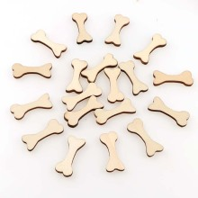 50pc/lot Arts&Crafts Wood Dog Bone Cutouts Unfinished Wooden Blank Crafts DIY Decor For Projects Ornaments Wedding Decoration 60 pieces blank boards plywood sheets for crafts models