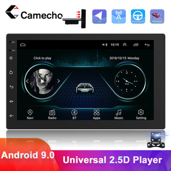 Camecho 1 Din Android Car Radio GPS Navigation Multimedia Video Player GPS Autoradio For VW Volkswagen Toyota Nissan Polo Ford image