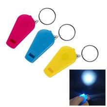 Мини Портативный 3-в-1 светодиодный свет свисток фонарик брелок свисток свет на открытом воздухе Выживание инструменты туристическое снаряжение
