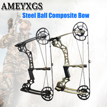 цена на Archery 40-60lbs Compound Bow Steel Ball Composite Bow Hunting Bow For Outdoor Shooting Game Training Bow And Arrow Accessories