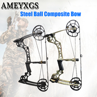 Archery 40 60lbs Compound Bow Steel Ball Composite Bow Hunting Bow For Outdoor Shooting Game Training Bow And Arrow Accessories