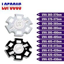 3W 5W LED UV Lamp Black Light Bulbs UVA Chips Ultraviolet 365nm 375nm 380nm 385nm 395nm 400nm 410nm 420nm For Scanning Printer