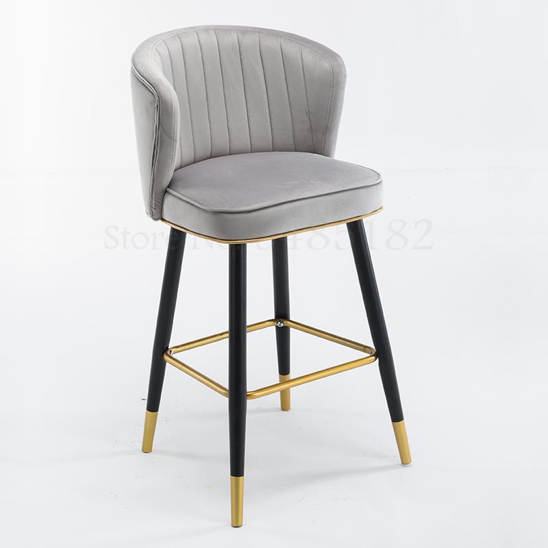 Bar chair light luxury postmodern minimalist high chair hotel front chair backrest bar stool island chair