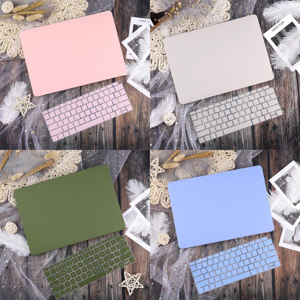 Новый матовый чехол для ноутбука Macbook Air 13 2020 2019 Pro Retina 13 ''15'', сенсорная панель с клавиатурой, CoverSkin A2159 A1989 A1932