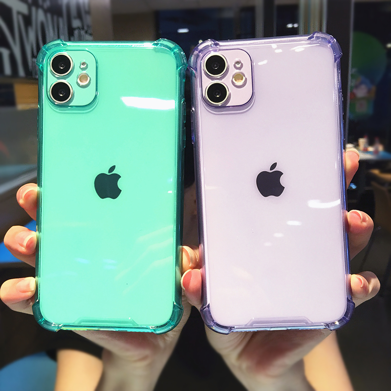 Soft TPU Phone Cases for iPhone 12 Mini 11 Pro Max SE 2020 XS X XR 6 7 8 Plus Transparent Shockproof Precision Holes Back Cover
