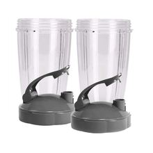 24-Ounce Cups with Flip Top To-Go Lid (Pack of 2) Nutri Replacement Parts & Accessories Fits Nutri 600w and Pro 900w Blender nutribullet nutri bullet flip top to go lid for mug cup 18 oz 24 oz 32 oz 900w 600w watt new not used 38