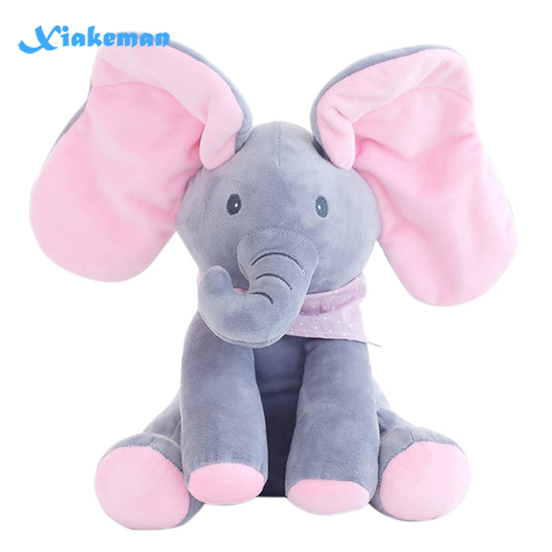 Stuffed Animal Toy Plush Elephant Doll Play Electric Music Education Birthday Christmas Thanksgiving Gifts For Kids Children(China)