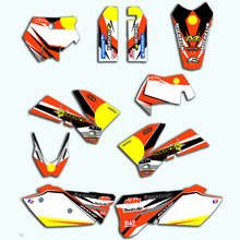 For EXC 2005 2006 2007 Decal Customized Racing Team Graphics Stickers Decals For KTM EXC 125 150 200 250 300 350 400 450 525 motorcycle graphics stickers decals for ktm sxf mxc xc sx exc 125 200 250 300 350 400 450 525 2005 2006 2007