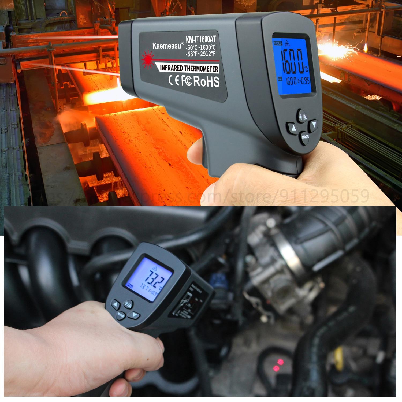 Kaemeasu Digitale Infrarood Thermometer -50 ~ 1600 Meetbereik, Non-contact, Veiligheid, Koken, industriële Elektronische Thermometer Pistool 6