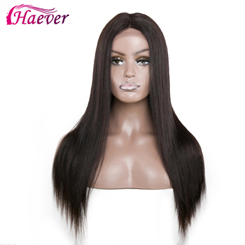 Haever Straight Hair 13x4 Closure Wig Human Hair Wigs Pre Plucked For Black Women 180% Remy Brazilian Lace Front New Hair