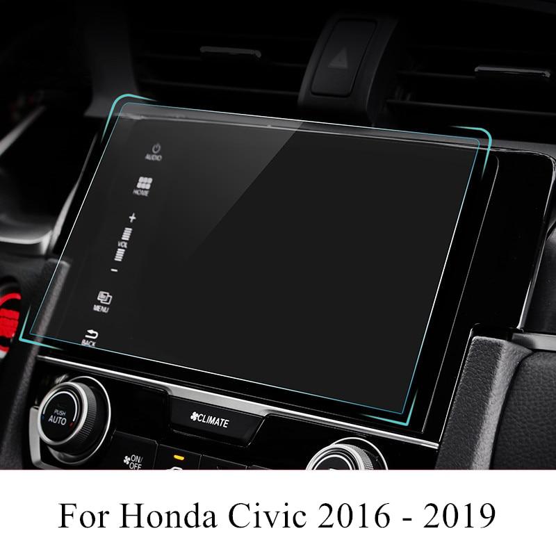 PET Car Navigation Screen Protector Film GPS HD Anti-scratch Sticker Interior Accessories For Honda Civic 2019 2018 2017 2016