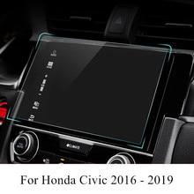 Защитная пленка для экрана навигатора автомобиля PET, наклейка HD с защитой от царапин и GPS, аксессуары для интерьера Honda Civic 2019, 2018, 2017, 2016