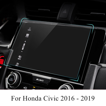 PET Car Navigation Screen Protector Film GPS HD Anti-scratch Sticker Interior Accessories For Honda Civic 2019 2018 2017 2016 image