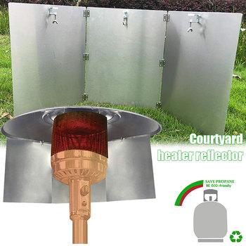 Grzejnik tarasowy osłona reflektora grzejniki zewnętrzne do Patio propan i gaz ziemny 66CY tanie i dobre opinie CN (pochodzenie) Other Patio Heater Reflector Shield Set Zaopatrzony