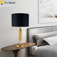 Modern Luxury LED Desk Lamp Nordic Business Desk Lamp Vintage Table Lamps for Bedroom Bedside Lamp Writing Table Desk Lighting