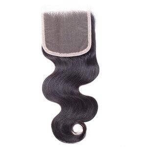 Image 4 - Brezilyalı Vücut Dalga Demetleri Ile Kapatma Sarışın demetleri ile kapatma nonremy 1B/4/30 insan saçı örgüsü Ombre Demetleri Ile kapatma