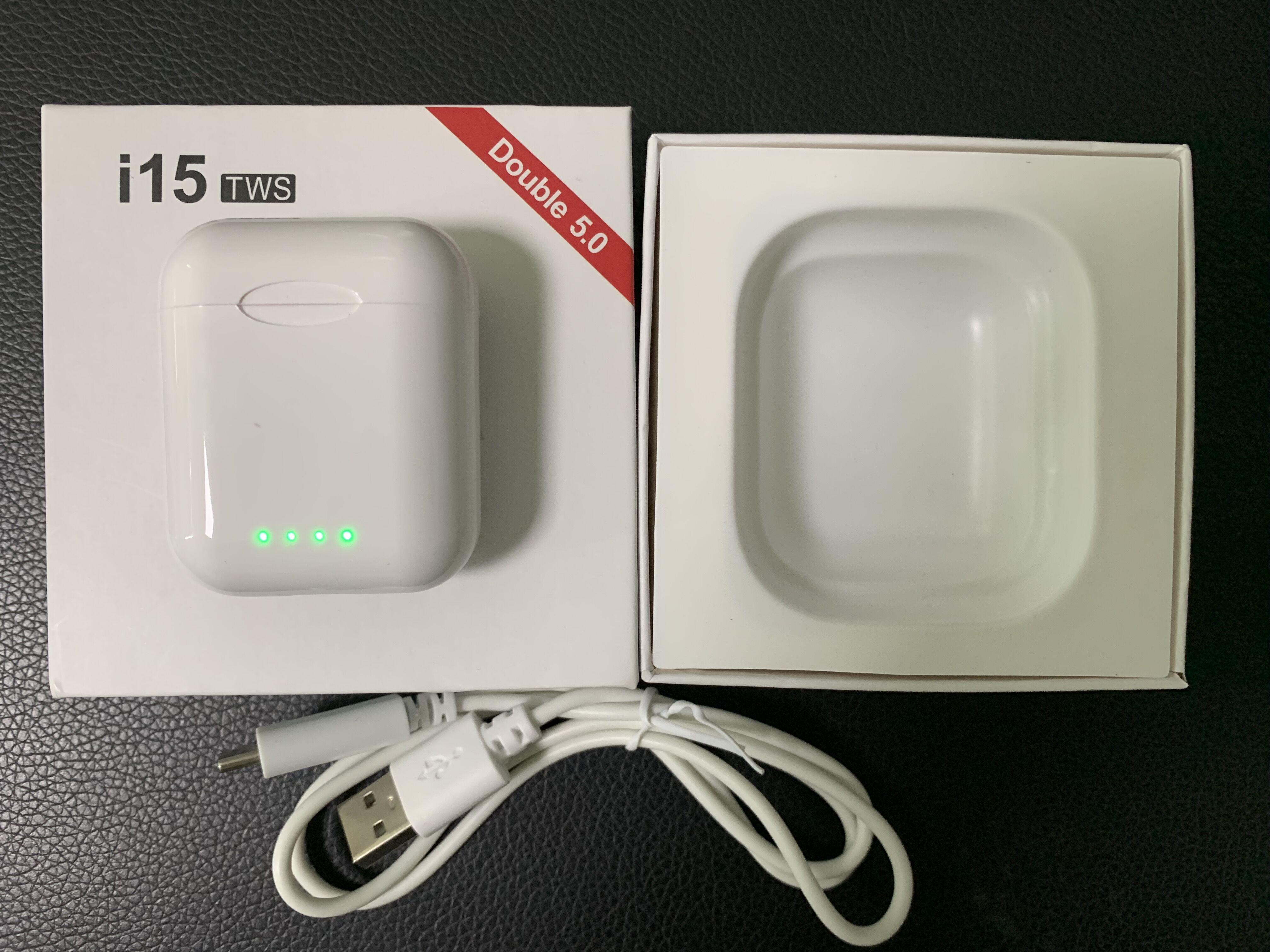 2019 NEW Touch control i15 TWS 1:1 Original Wireless charging support Bluetooth 5.0 3D bass earphone pk i10 i11 i12 i13 i14 tws