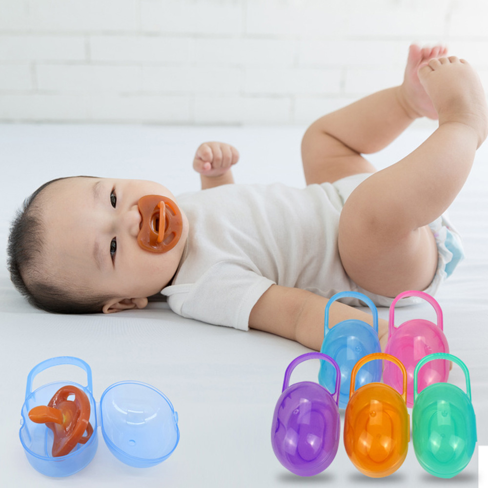 Nipple Storage Pacifier Box Storage Box Portable Child Protective Cover Travel Portable Baby Box PP Standard Caliber 0-3 Years
