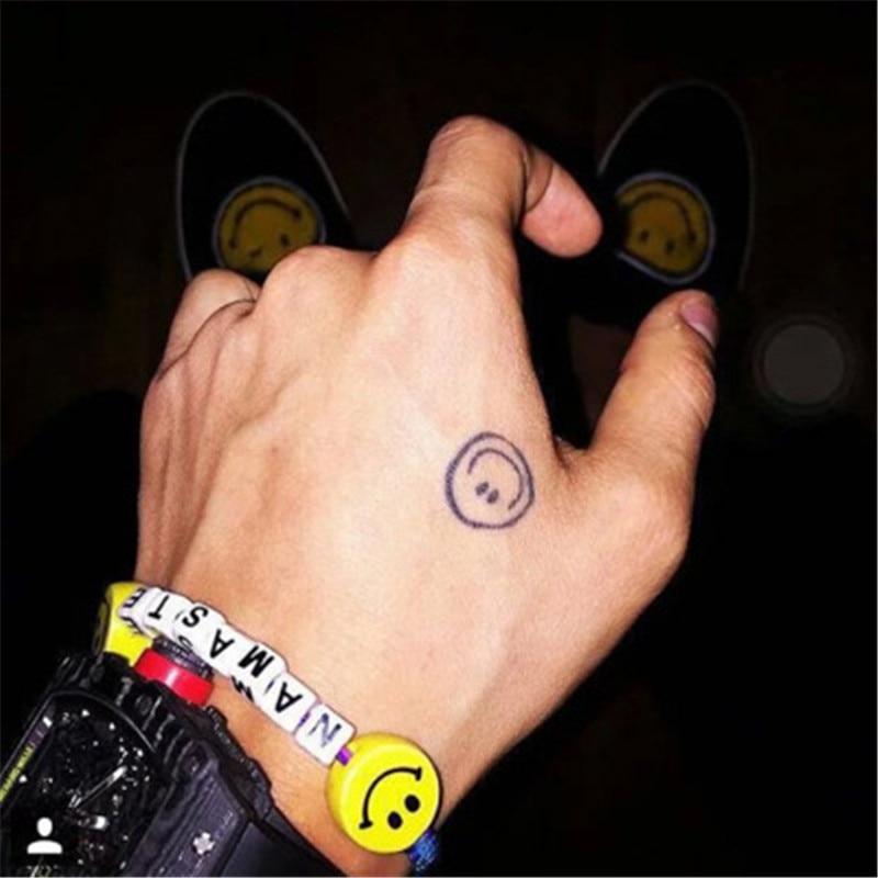 KPOP G-Dragon Ceramics Smile Colorful Letter Wristband Bracelet Peaceminusone FH191