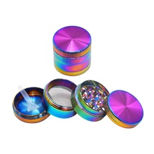 Tobacco Grinder Crusher-Gadgets Cigar Herb-Alloy Smoke 40mm Aluminum 4-Layer High-Quality