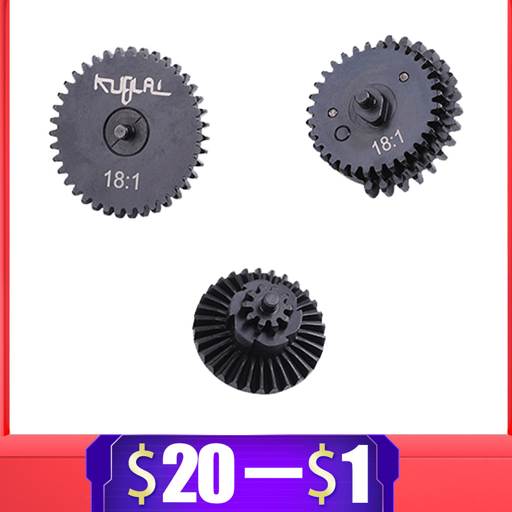 For Kublai 18:1 Original Torque Speed Gear Set For Ver.2/3 M4 AEG Airsoft Gel Blaster K1 K2 K3 JinMing9 Paintball Accessories