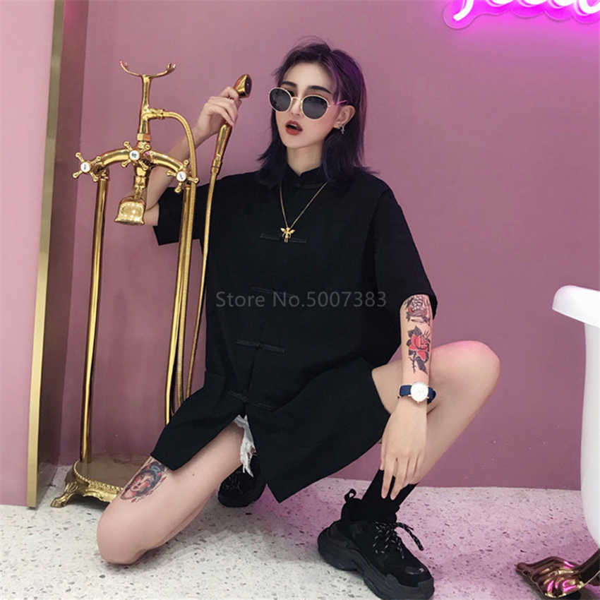 Traditionele Chinese Blouse Vrouwen Top Gothic Tang Pak Overhemd Jurk Effen Aziatische Stijl Meisje Casual Hoge Taille Broek Harajuku Sets