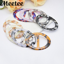 Marble Resin Oval Scarf Buckles High Quality Bag Shoes Clothing Decoration Buckle Buttons DIY Craft Sewing Accessories KY2103
