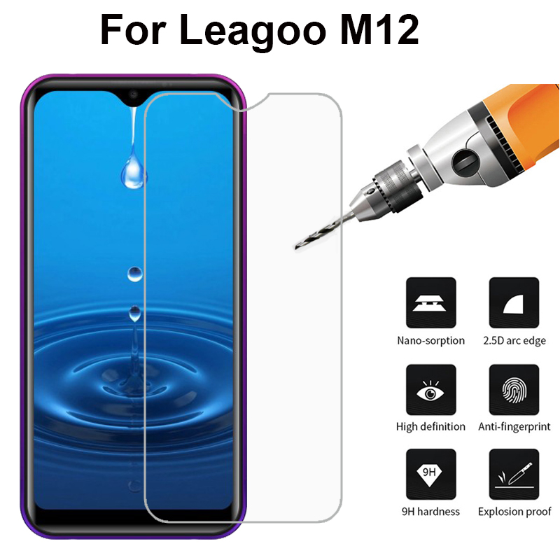 "9H Premium 2.5D 0.3mm Tempered Glass Screen Protector For Leagoo M12 5.71"" Front Glass Film For Leagoo M12 With Free Clean Tools"