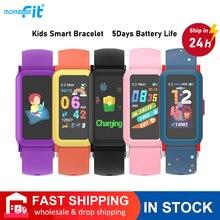 Детские Смарт-часы Morefit с OLED-экраном 1,08 дюйма, водостойкие, IP68, пульсометр, 907, детские электронные смарт-часы для Android