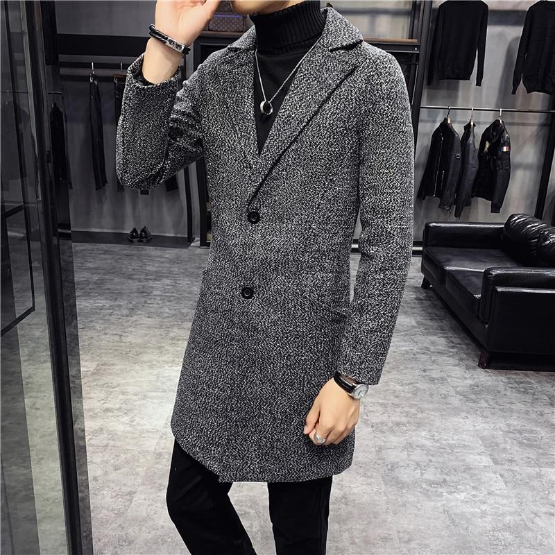 Long Coats Mens Grey Burgundy Long Trench Coats Mens Long Jackets Slim Fit 2020 Winter Coats Mens Steampunk Vintage Retro Dress