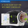 220V 6''' Ultra Silent Extractor Smart Duct Fan & Humidistat and Timer - Bathroom Ventilation Fan with Smart Sensor Controller