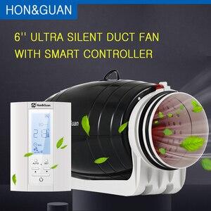 Image 1 - Fã inline esperto 220v do duto do ventilador ultra silencioso de 6 ventifan com ventiladores da ventilação do banheiro do temporizador de humidistat com controlador do sensor