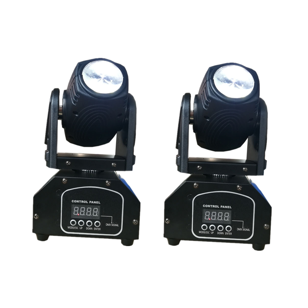 2pcs/lot 10W LED Mini Moving Head Beam Lights 4in1 RGBW LED Pinspot Light Spotlight DMX512 Disco Stage Spot Lighting For DJ Pub|Stage Lighting Effect| |  - title=