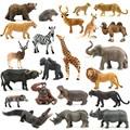 Echtes dschungel wilde farm Zoo tier sets lion tiger hippo rhino elefanten warthog figuren kinder lernen spielzeug kinder geschenk|Action & Spielfiguren|Spielzeug und Hobbys -