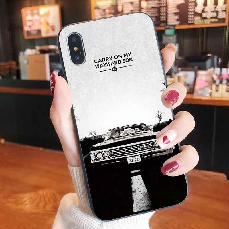 Nbdruicai Siêu Nhiên SPN Truyền Hình Chất Lượng Cao Silicone Ốp Lưng Điện Thoại Iphone 11 Pro XS Max 8 7 6 6S plus X 5 5S SE XR Case