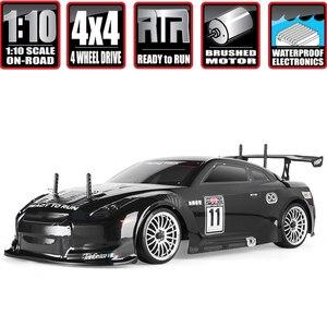 Гоночный автомобиль HSP для дрифта на радиоуправлении 4wd 1:10, электрический автомобиль на радиоуправлении 94123 FlyingFish 4x4, высокоскоростной автом...